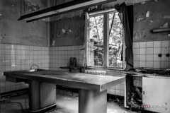 """Autopsy table in an old abandoned psychiatric women's hospital"" / Photographer - Jasper Legrand"